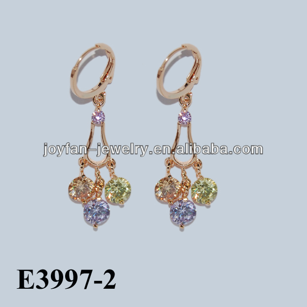 fashion gold plating wholesale jewelry earing CZ