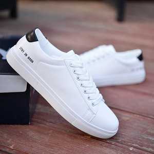 Spring New Casual Stylish High Quality Boys PU White Shoes Breathable Casual Men's Shoes Student Shoes