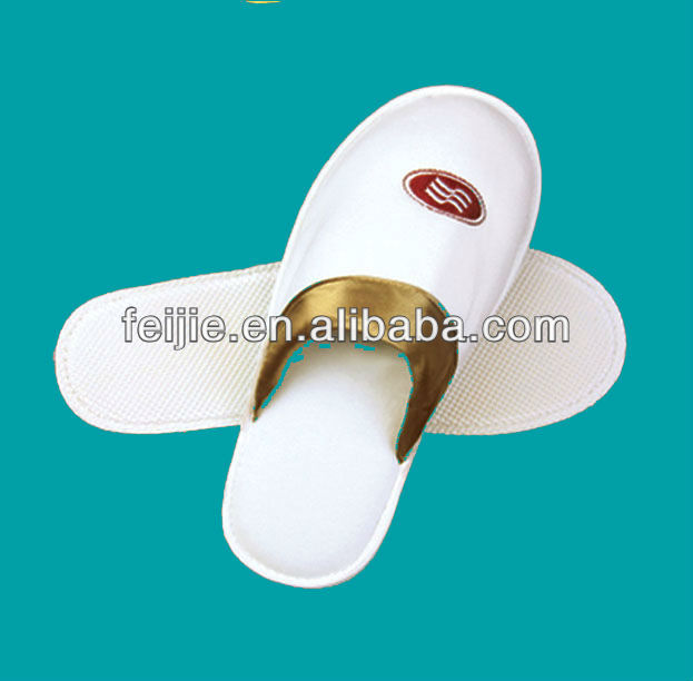 star hotel high quality disposable soft velour men slippers