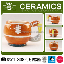 hot sale Creative Gifts lovely rugby ceramic mug