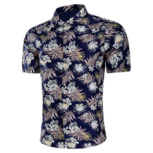 Mens Custom Ingericht korte Mouw <span class=keywords><strong>Knop</strong></span> Up bloemenprint Hawaiian <span class=keywords><strong>Shirt</strong></span>