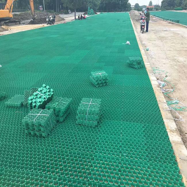 parking lot plastic grass paver driveway ground reinforcement grass paver