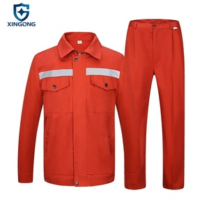Red Color Wholesale Safety Clothes Engineering Smock Uniform Workwear Overalls China