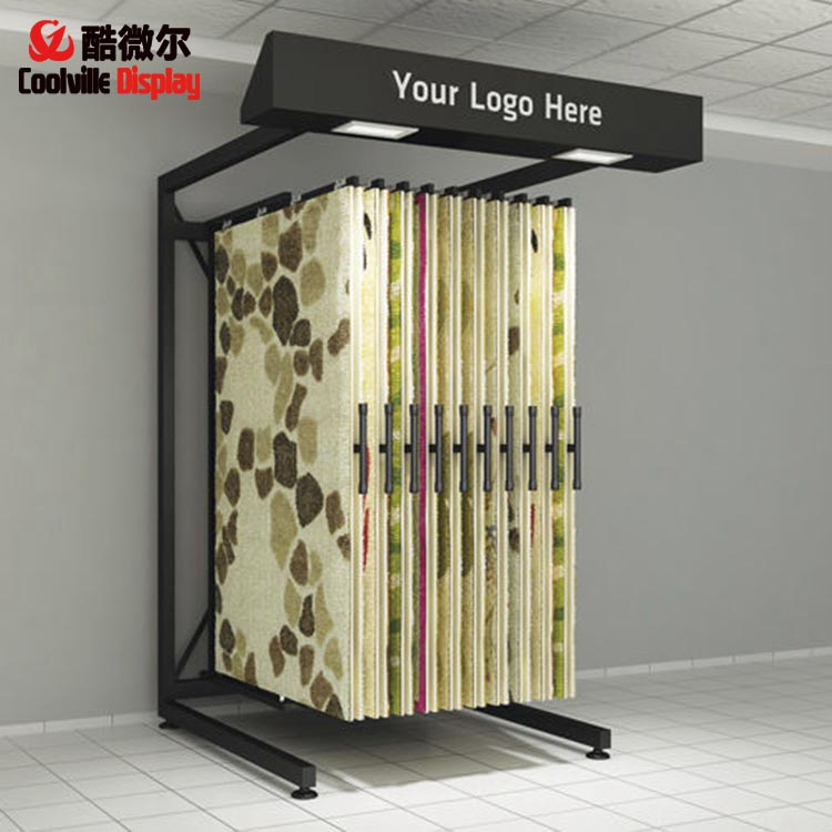 Carpet Hanging Sliding Displays Unit Door Mat Stands Rug