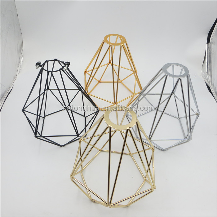 Iron Material Bird Cage Lamp Shade for Retro Edison/LED Bulb Used indoor Decoration