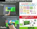 120 ProjectsDIY Kits Integrated circuit building blocks snap circuit kit FM Radio experiments kids model kits