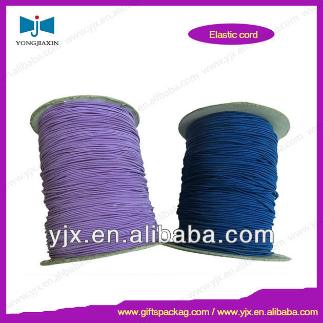 High Quality Waxed Polyester Twisted Rubber Elastic Cords
