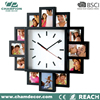 2016 new fashion photo frame wall clock with 12 photo frame