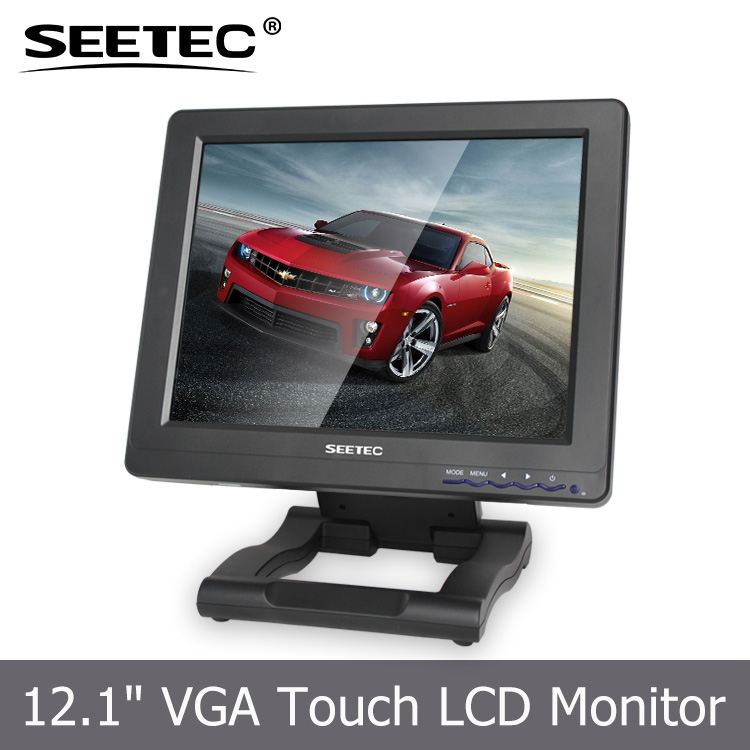 12.1'' HDMI VGA input 5-wire resistive lcd monitor Linux Win CE touchscreen <strong>tv</strong>