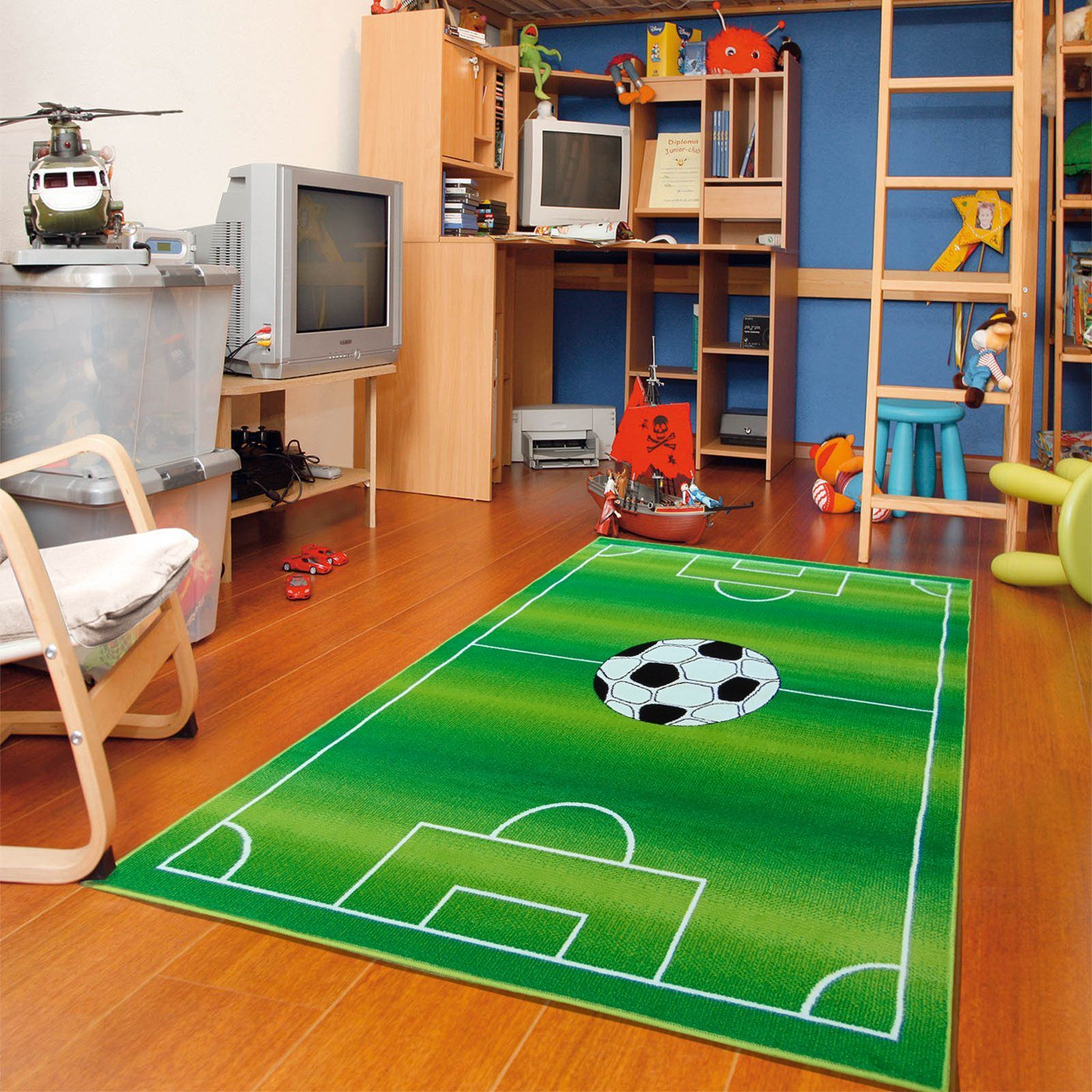 Buy New Soft Kids Rugs For Boys And Girls Soccer Field Rugs