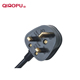 Qiaopu 220V Ac 3Pin Plug Bs Extension Power Cord With Fuse