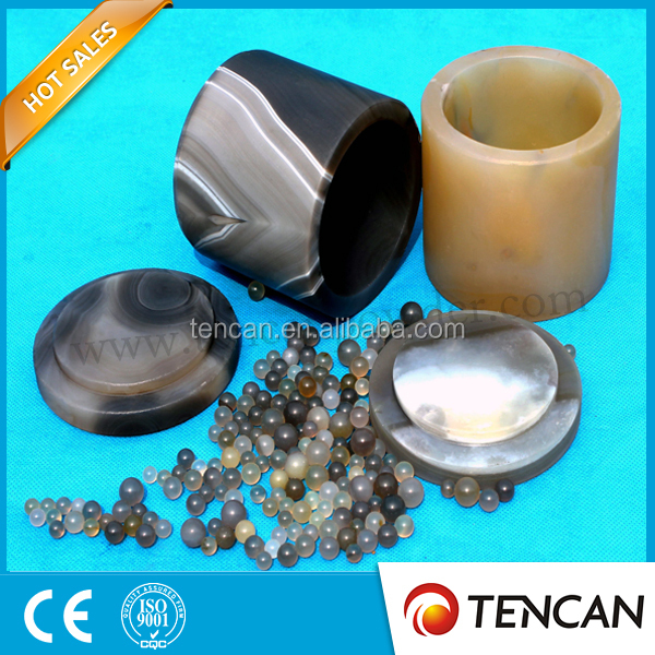Agate Mill Jar (50ml) With Agate Milling Balls For Ball Mill Lab ...