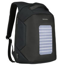 Sports Daily Waterproof Solar Panel Rechargeable School Backpack Bag