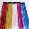 "New Fashion 18"" Synthetic Sparkle Glitter Twinkle Colorful Hair Dazzle Tinsel Clip in Hair Extensions for Party"