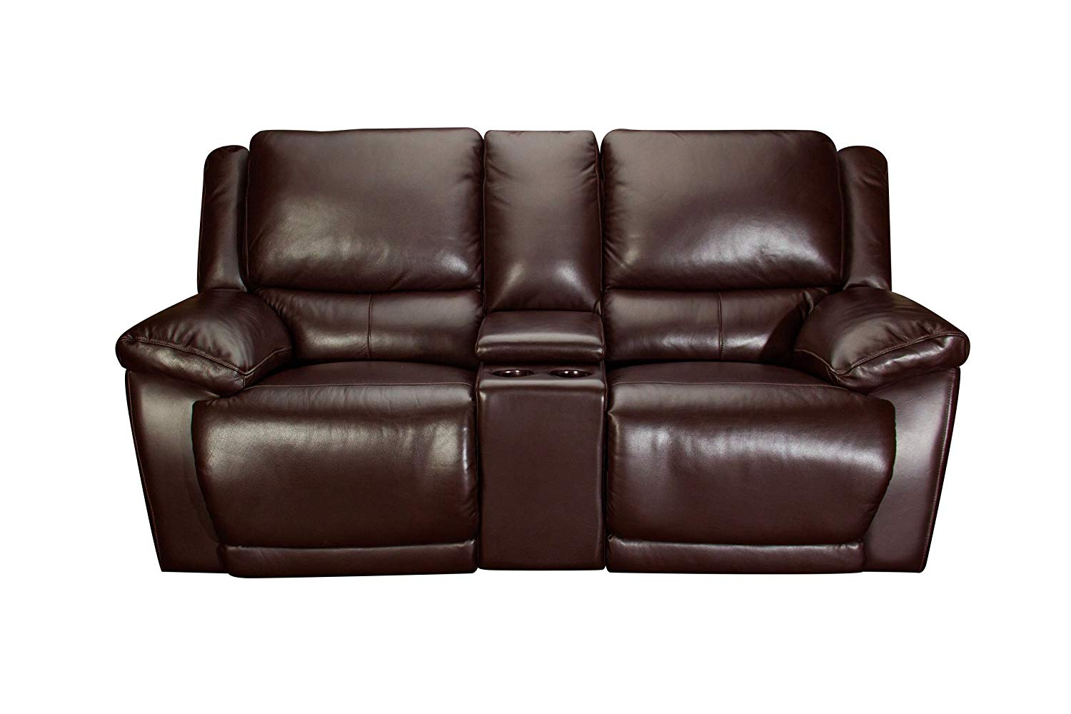 Get quotations · creed leather power reclining loveseat with console