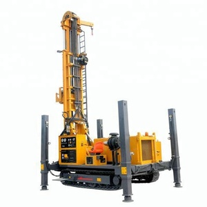 XSL 700m 500 mm deep water well drill rig crawler chasis casing cbm geothermal exploitation boreholeair DTH foam mud pump