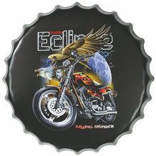 Motorcycle design Home Decoration wall Plaque Custom Metal Wall Art Wholesale tin sign