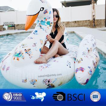 Pool Floats Jumbo Colorful Giant Inflatable Swan