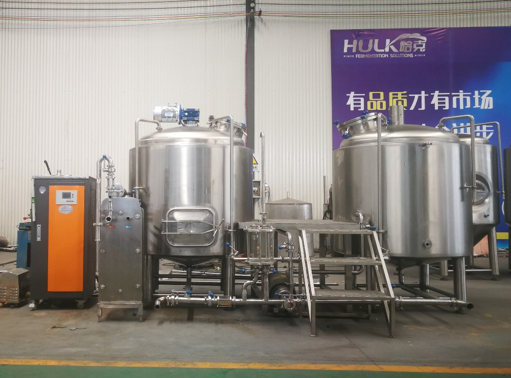 Steam boiler for beer making machine