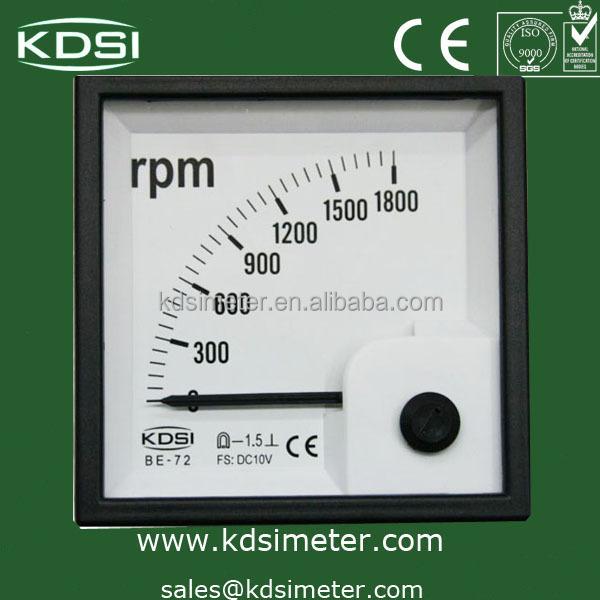 Be-72 Analog Panel Mount Dc Rpm Meter