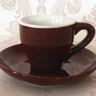 [ZIBO HAODE CERAMICS ]manufacturer wholesale two tone small brown ceramic coffee sets tea sets