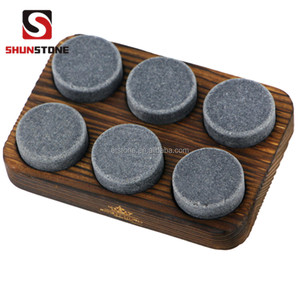Customized eco-friendly ceramic whiskey ice cube stones/stone, beer chiller cube ,wine cooler stone bar accessories by Homeco