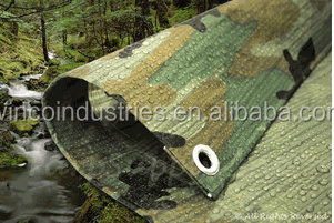 Green Camo Camouflage Poly Tarps