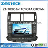 ZESTECH Dashboard placement and 2 din car dvd player for Toyota Crown with GPS 3G DVD radio tuner RDS