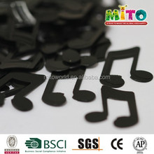 metallic black music confetti bulk for decorations