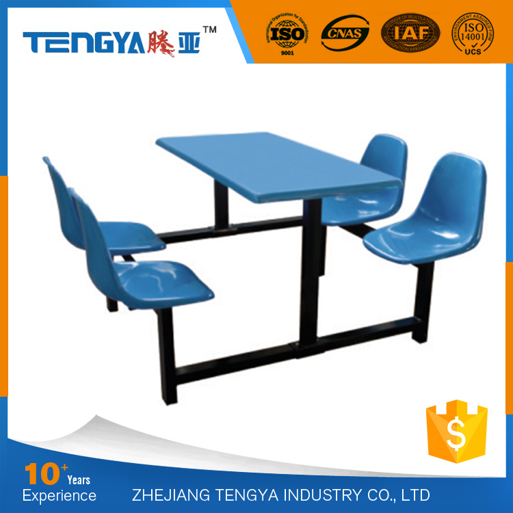 Modern School Cafeteria Furniture Wooden Dinning Table Set
