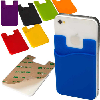 promotional customized silicone cell phone card holder - Phone Card Holder Custom