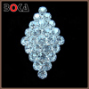 Vintage Brooch Pin Silver Tone classical Diamond Shape brooch with Rhinestones