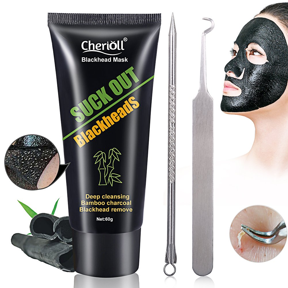 Peel Off Blackhead Mask, Peel Off Mask,Black Mask,Blackhead Remover Tool,Facial Masks,Purifying Peel-off Mask Blackhead Mask, 60g Bottle Deep Clean Blackhead Acne Treatment Oil Control Suction Cleaner