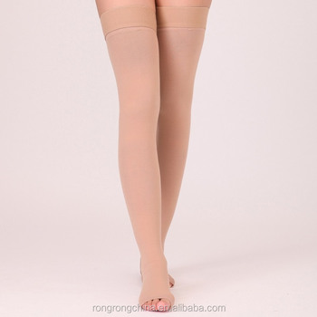 3f4dc38964 Open Toe medical Compression Stockings thigh high socks for men women