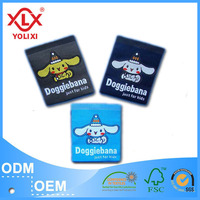 custom clothing label kids woven garment label supplier