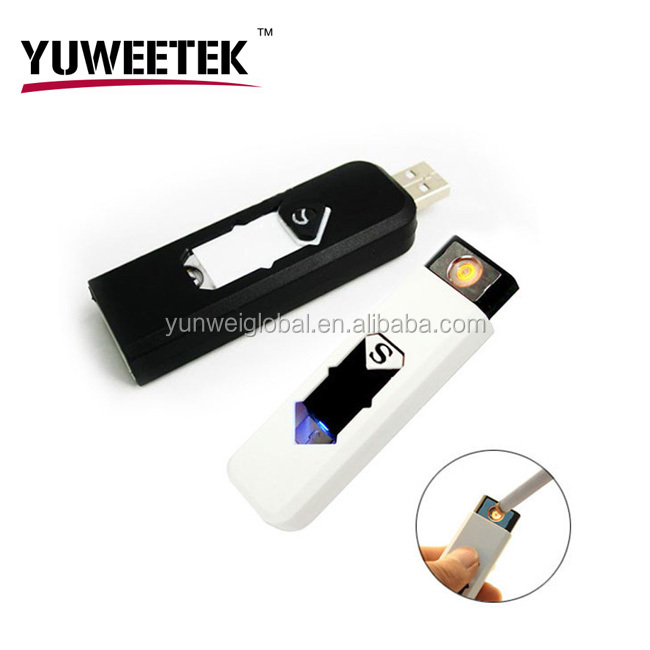 2017 YuWeeTek portable mini cigarette lighter usb 100% safety no liquid