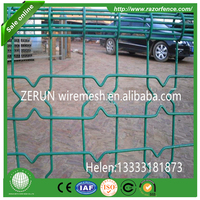 ornamental double loop wire fence with post and clips