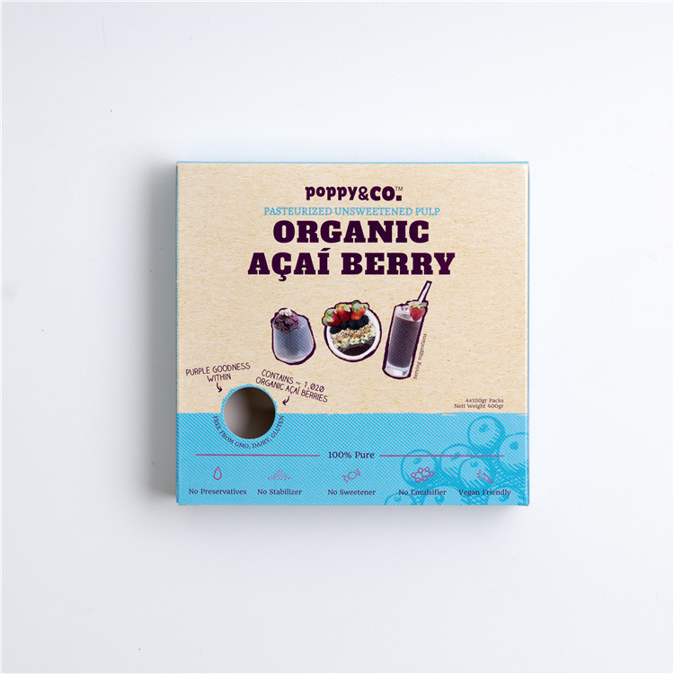 Wholesale Singapore Food Organic Unsweetened Acai Berry Pulp Pasteurised