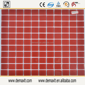 red colored kitchen tile backsplash glass mosaic wall tiles