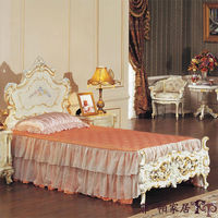 Luxury Wooden Bedroom Furniture -french Wood Antique Bed