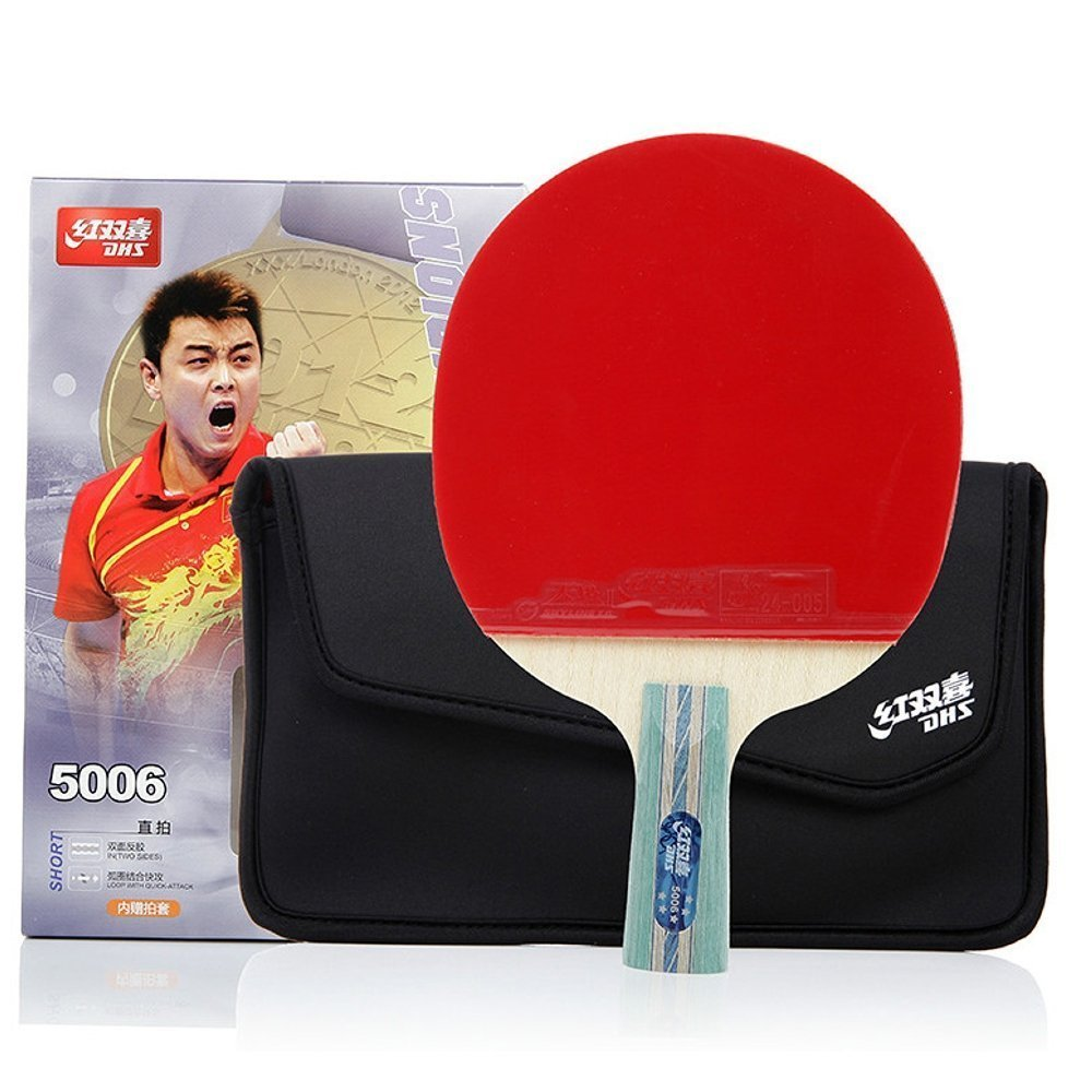 DHS Double Happiness Five Star Table Tennis Racket Penhold sided anti-adhesive A5006 / A5002 shake-hands grip table tennis racket finished a