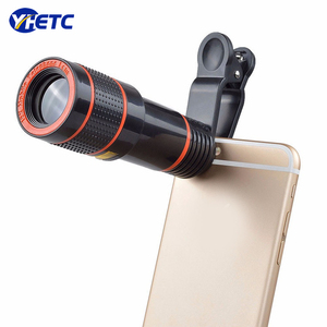 Universal 12X Zoom Mobile Phone Telescope Lens Telephoto External Smartphone Camera Lens for Smartphone