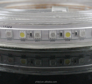 PVC and cooper wire 50m one roll waterproof high voltage 110V 5050 rgbw led strip