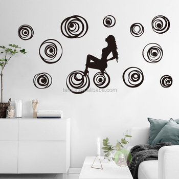 Sexy Lady Woman Wall Sticker Home Decor Wall Decor Sexy Nude Woman