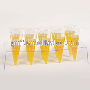 New design clear long plastic jelly ice cream cone cup with disposable material