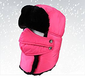 e35fbb529f1 Get Quotations · Winter Hats Outdoor Windproof Thick Warm Winter Women Men  Cycling Hat Ear Flaps Ski Caps (