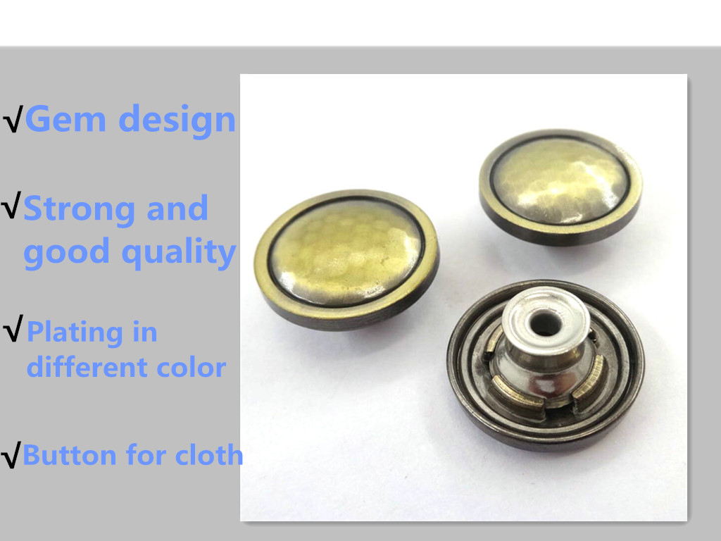 High-end zinc alloy custom red  jeans button for garment