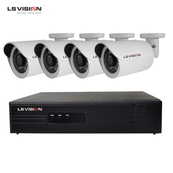 LS VISION H.265 POE CCTV Surveillance System 1080P 4CH Outdoor NVR Kit Support Face Detection and Line Cross