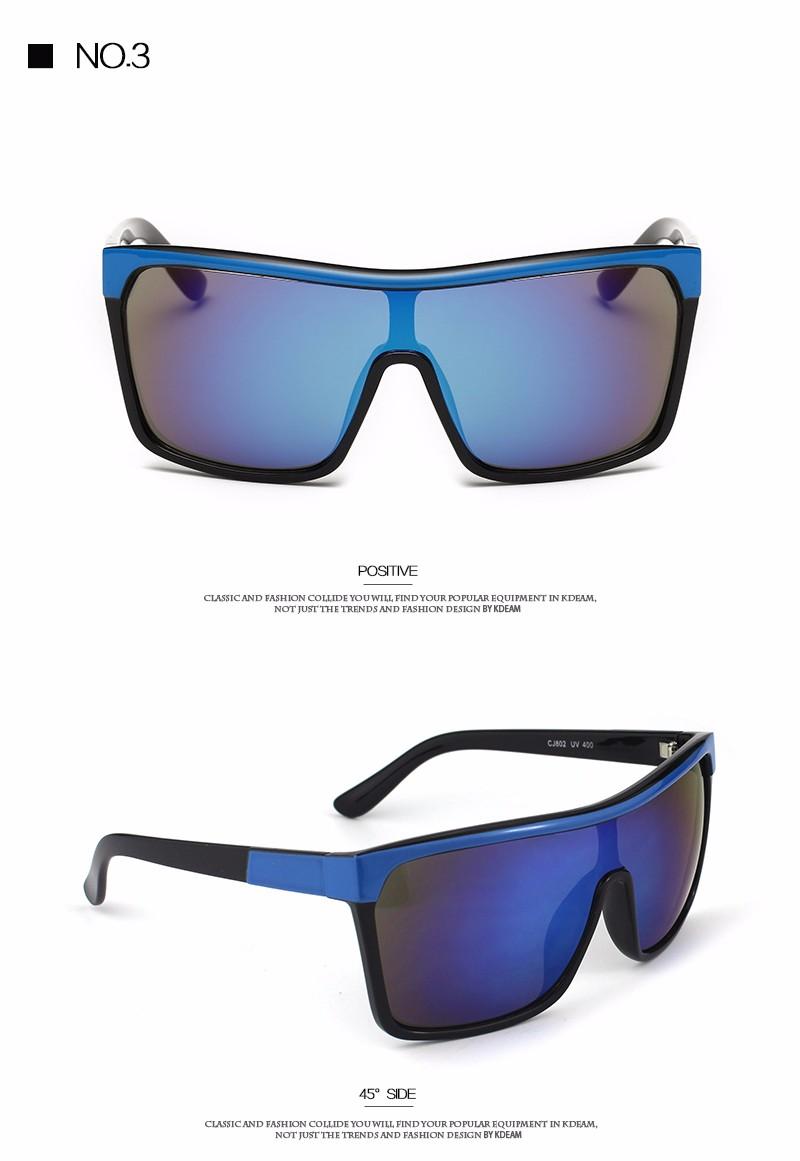 2d20d4ebe KDEAM Flynn Sport Shield Sunglasses Men UV400 protection Sun Glasses Women  Vintage Big-size Goggles With Brand Hard Box KD802