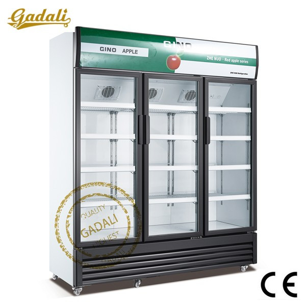 2~10 degree used glass door freezer, used deep freezers for sale, commercial cooler with wheels